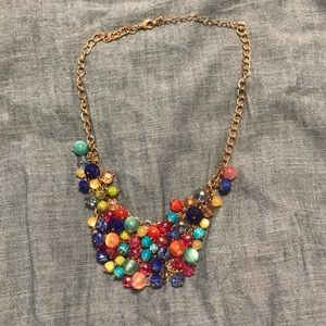 Jewelry - Gold Beaded Statement Necklace